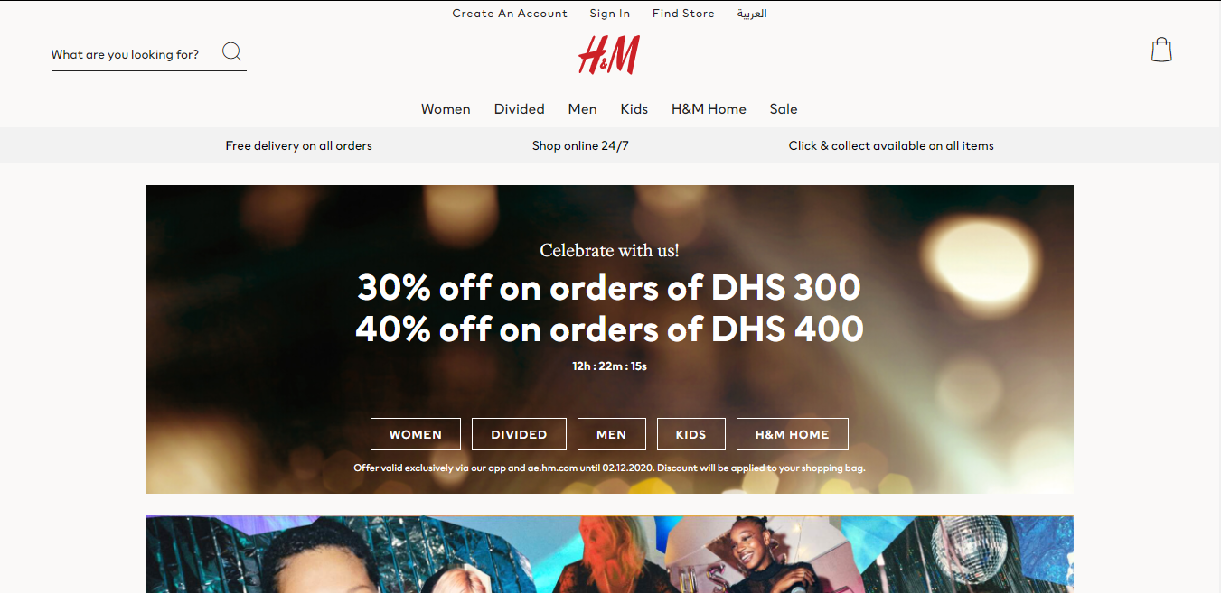 H-M. Earn up to 5.5% Cashback