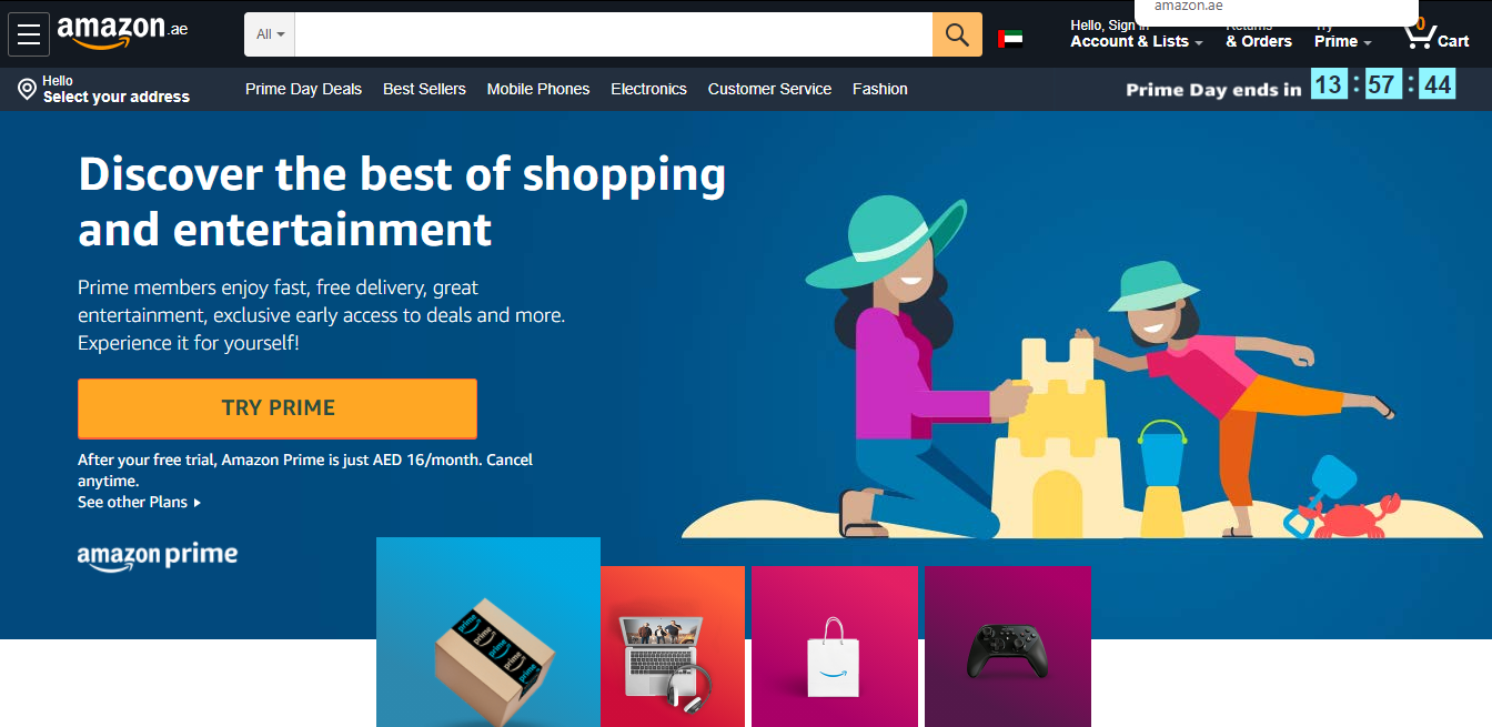 Amazon Prime | SignUp. Earn up to 4.2AED Cashback