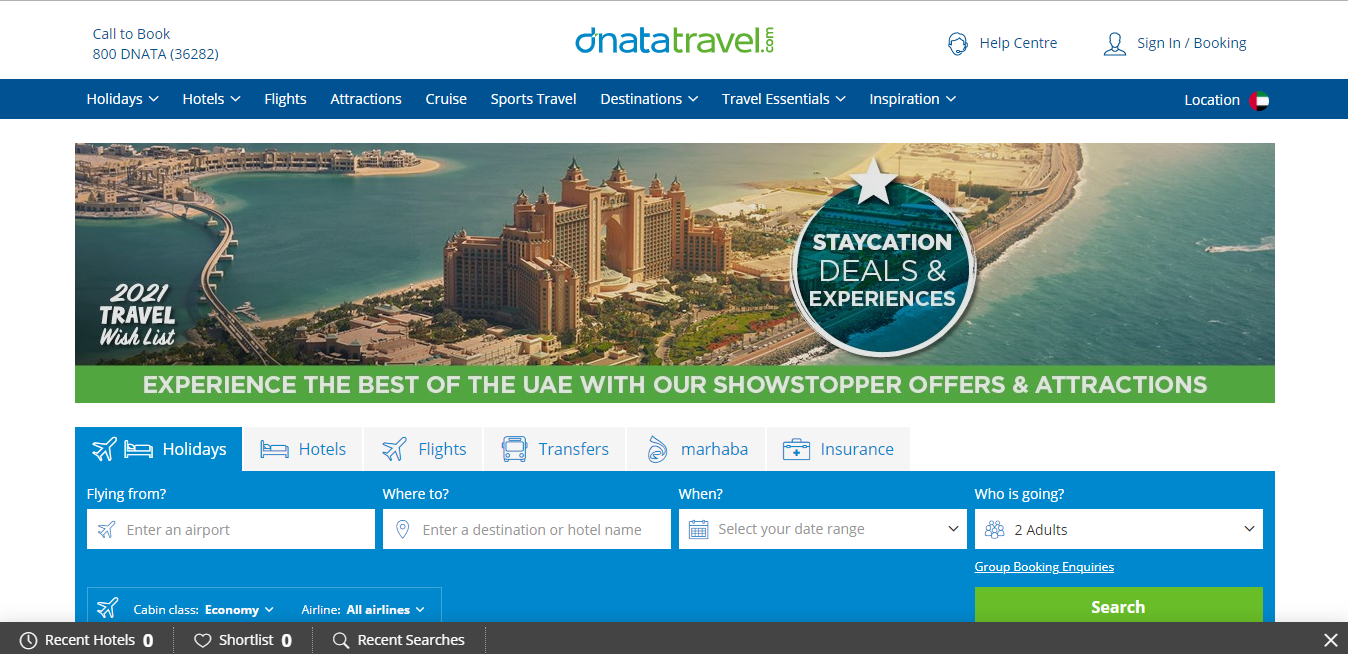Dnata Travel. Earn up to 3.5$ Cashback
