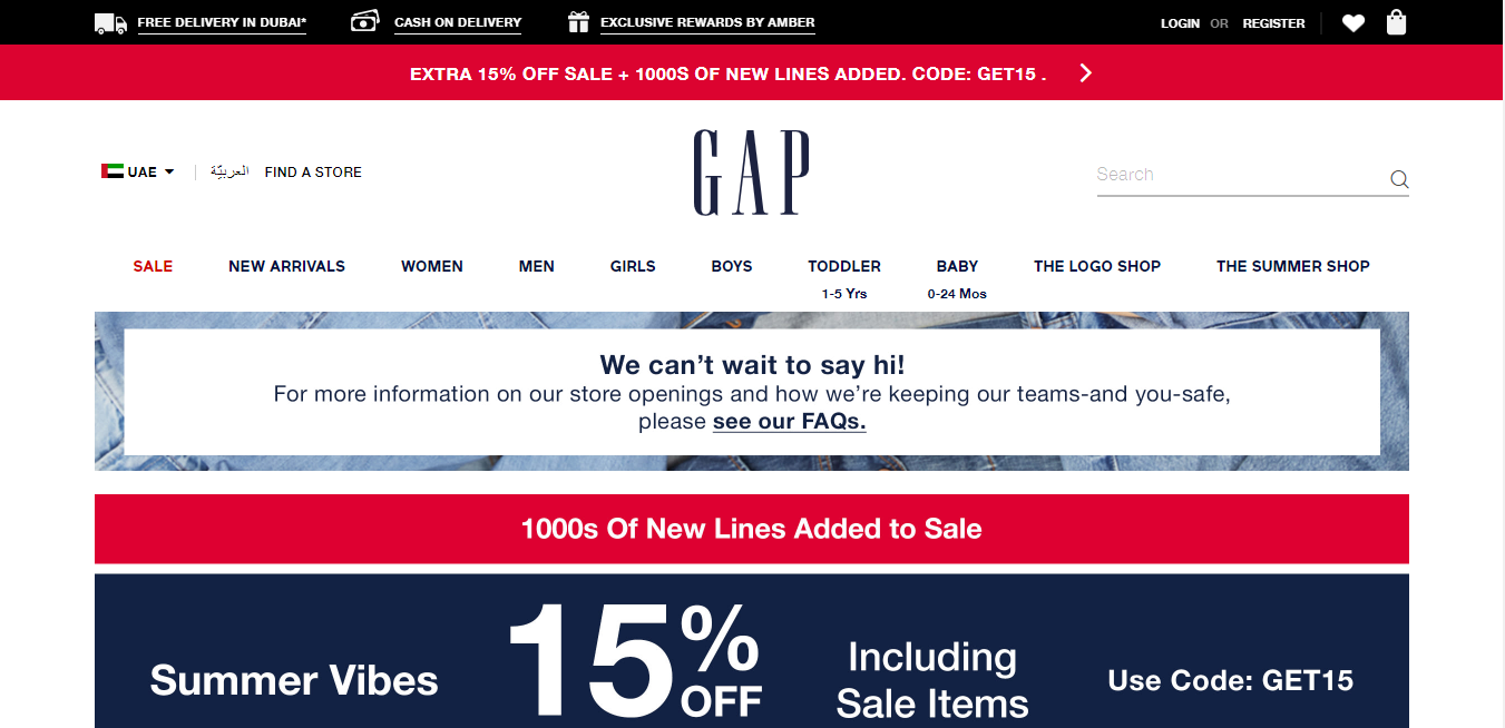 Gap - Links. Earn up to 15% Cashback
